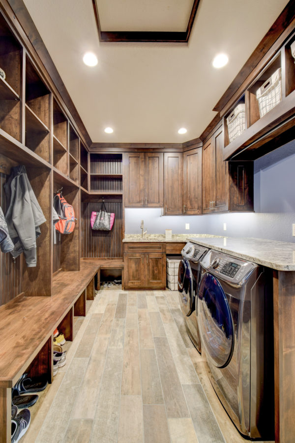 Custom Laundry Room in New Home Build