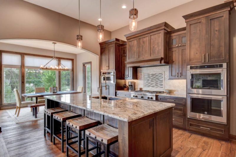 Trendy Wood Kitchen
